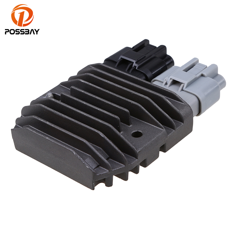 POSSBAY Motorcycle Voltage Regulator Rectifier for Polaris 2011-2014 RZR <font><b>800</b></font> & RZR S <font><b>800</b></font> <font><b>UTV</b></font> ATV Aluminum Motorbike Rectifier image