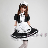 Women Girls Lolita Style Cute Coffee Maid Meidofuku Uniform Outfits Anime Cosplay Dress Large Size 3XL