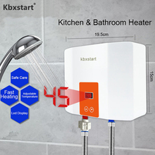 Mini Kitchen/Bathroom Wall Mounted Water Heater Instant Tankless Electric Hot Thermostat Fast Heating Calorifier