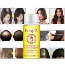 Natural Herbal Hair Growth Anti Loss Oil Promote Thick Fast Treatment 20ml Essential Health Care
