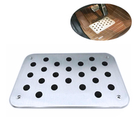 Floor Mats For Mercedes Benz Brake Treadle Foot Rest Pedal Cover Aluminium Alloy Non Slip For