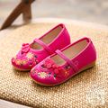 New style kids shoes meninas shoes bordado bonito girls dress shoes crianças folk-personalizado meninas único shoes crianças