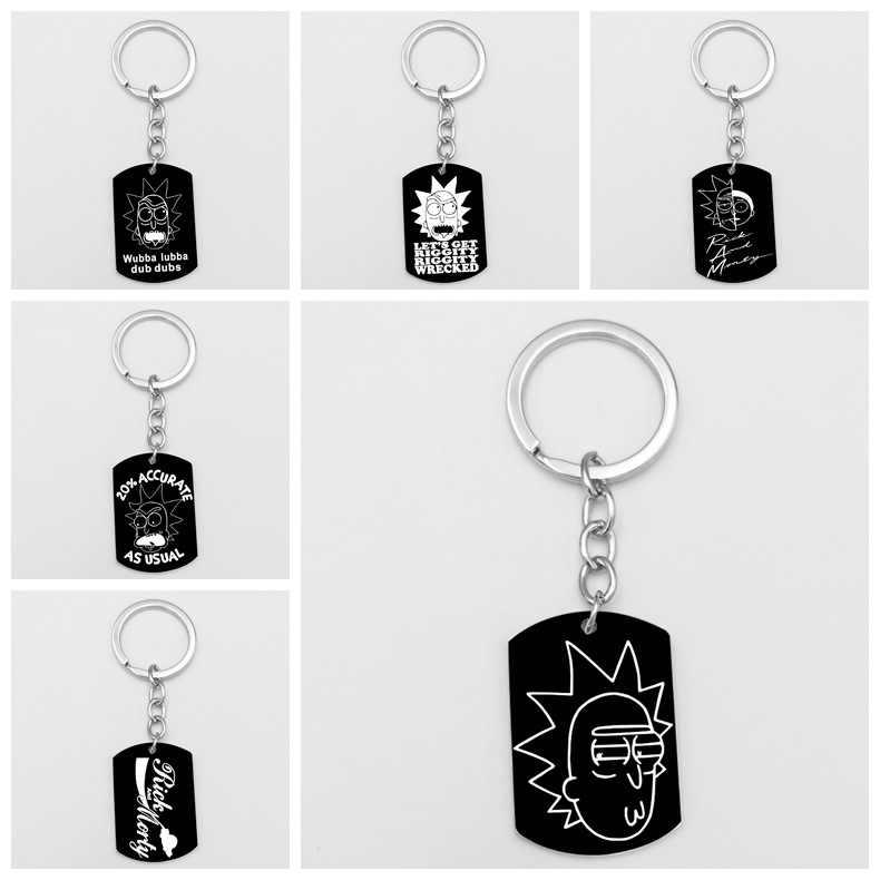 Anime Rick en Morty sleutelhanger Action Figure Collection Model Toy hanger rick morty sleutelhanger Cijfers Cadeaus Voor Auto Zak Sieraden