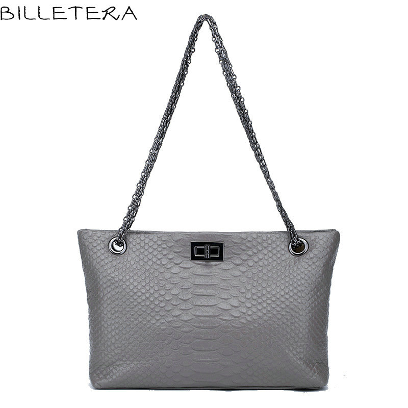 ФОТО BILLETERA Fashion Women Shoulder Bags Casual Totes Genuine Leather Women Messenger Bags Handbag