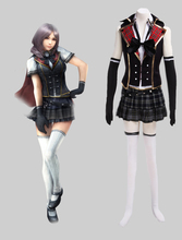 Free Shipping Final Fantasy Type-0 Suzaku Peristylium Class Zero Sumer School Uniform Game Cosplay Costume