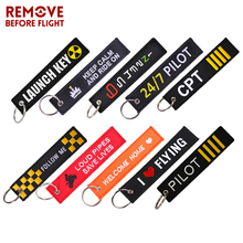 The Key to Happiness Keychain OEM Bijoux Black Embroidery Keyring Tag Holder for Motorcycles Cars Chain Gift New