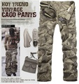 Size M-XXL Straight Mens Cargo Pants Men Camouflage Trousers Pantalones Hombre Free Shipping