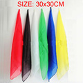 6pcs/lot 30*30cm Magic Silk Change Color Silk Scarf Multicolor ultra-thin Scarves Magic Tricks for Stage Close Up Magic Props