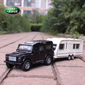 Free Shipping 1:31 Land defender trailer travel saloon car alloy model car toys Jeep off-road vehicles for baby gifts