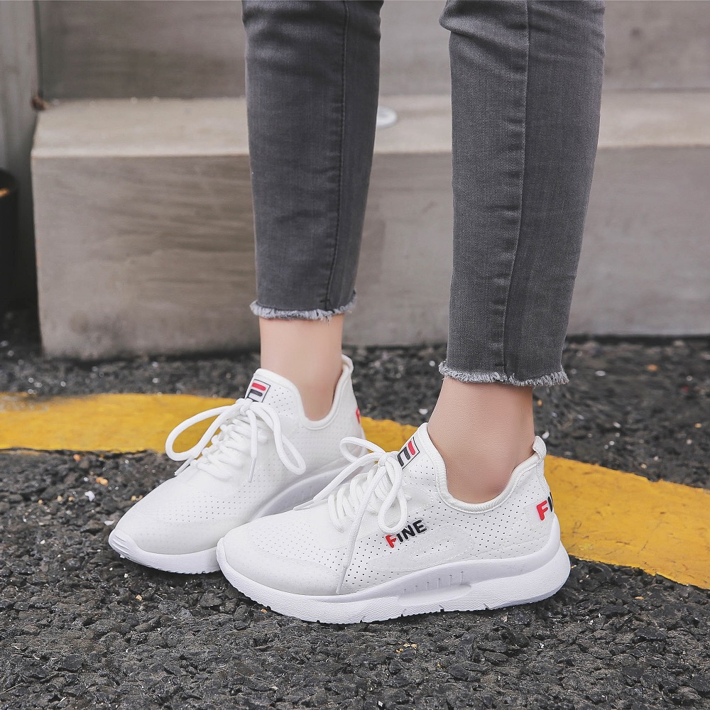 2018 Summer Sneakers Women Fashion Breathable Lycra Women Casual Shoes light Soft Flats Shoes Lace-Up Casual Women Shoes 2016 year end clearance sale women casual shoes summer lady soft fashion shoes high quality breathable shoes mm x02