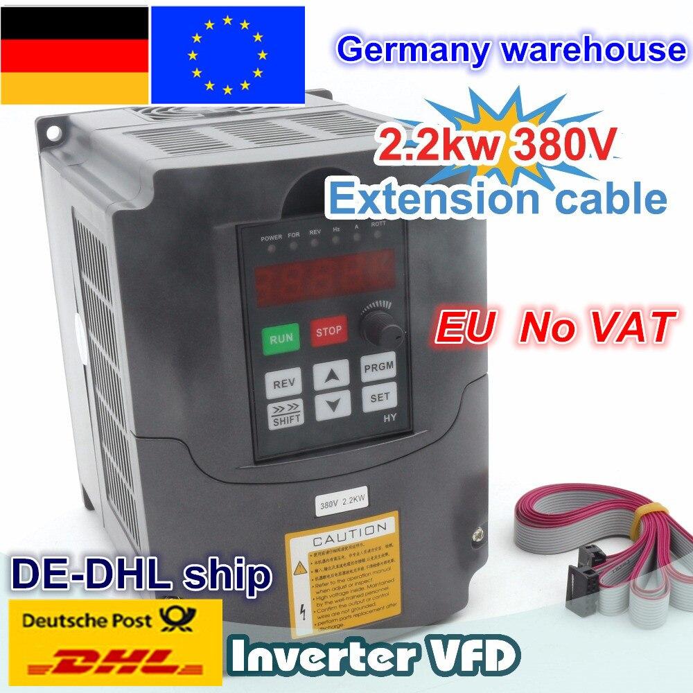 DE свободный Ват 2.2KW 380 В 6A инвертор вращения вала вектор управление преобразователь частоты 3HP вход для ЧПУ фрезерные станки