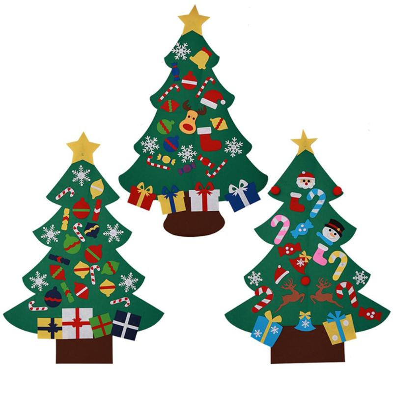 Christmas Tree with Ornaments New Year Party Door Wall ...