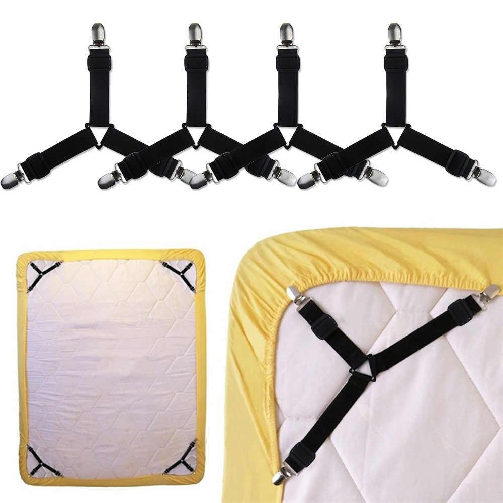 4 шт. эластичные одеяла грейферные Захваты Кровать Зажим для листов застежки матраса крепления Нескользящие Зажим для ремня DIY домашнего ремесла