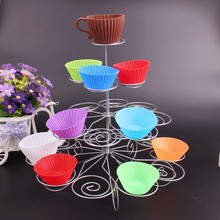 WOFO 4 Layers Cake Holder Cup Storage Rack for Wedding Birthday Party Decoration Detachable Cake Display Stand 23 Cups
