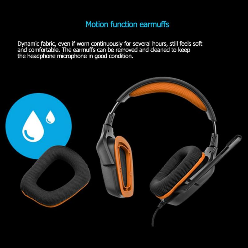 Logitech G231 G633 Prodigy Gaming Headset with Folding Unidirectional Mic  Lay-Flat Earpieces for PS4 Xbox One Nintendo Switch