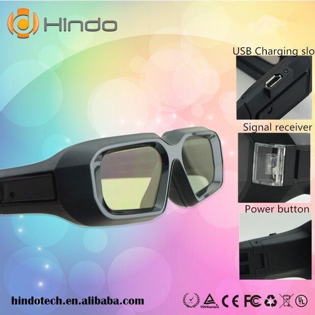 RF glassess óculos de obturador ativo de TV 3D para Panasonic Samsung a64b122e47