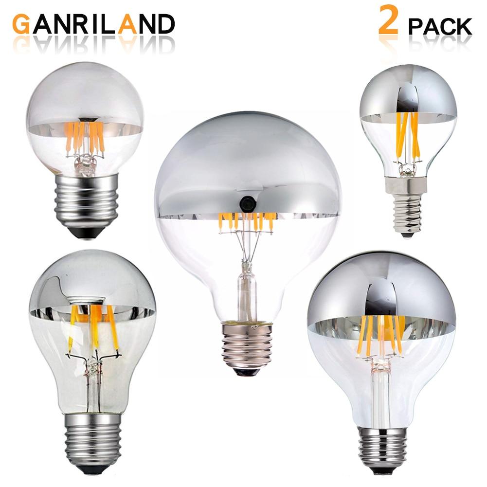 6W LED COB Edison Filament Bulb Dimmable Warm Color Light AC120V E26 Lamp 6 Pack