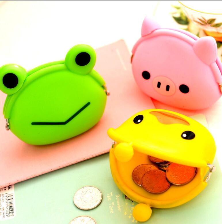 Fashion Women Coin Purse Wallet Candy Color Cartoon Animal Duck Pig Frog Owl Girls Wallet Silicone Coin Bag Holder  Kid Gift new fashion lovely kawaii candy color cartoon animal women girls wallet multicolor jelly silicone coin bag purse kid gift