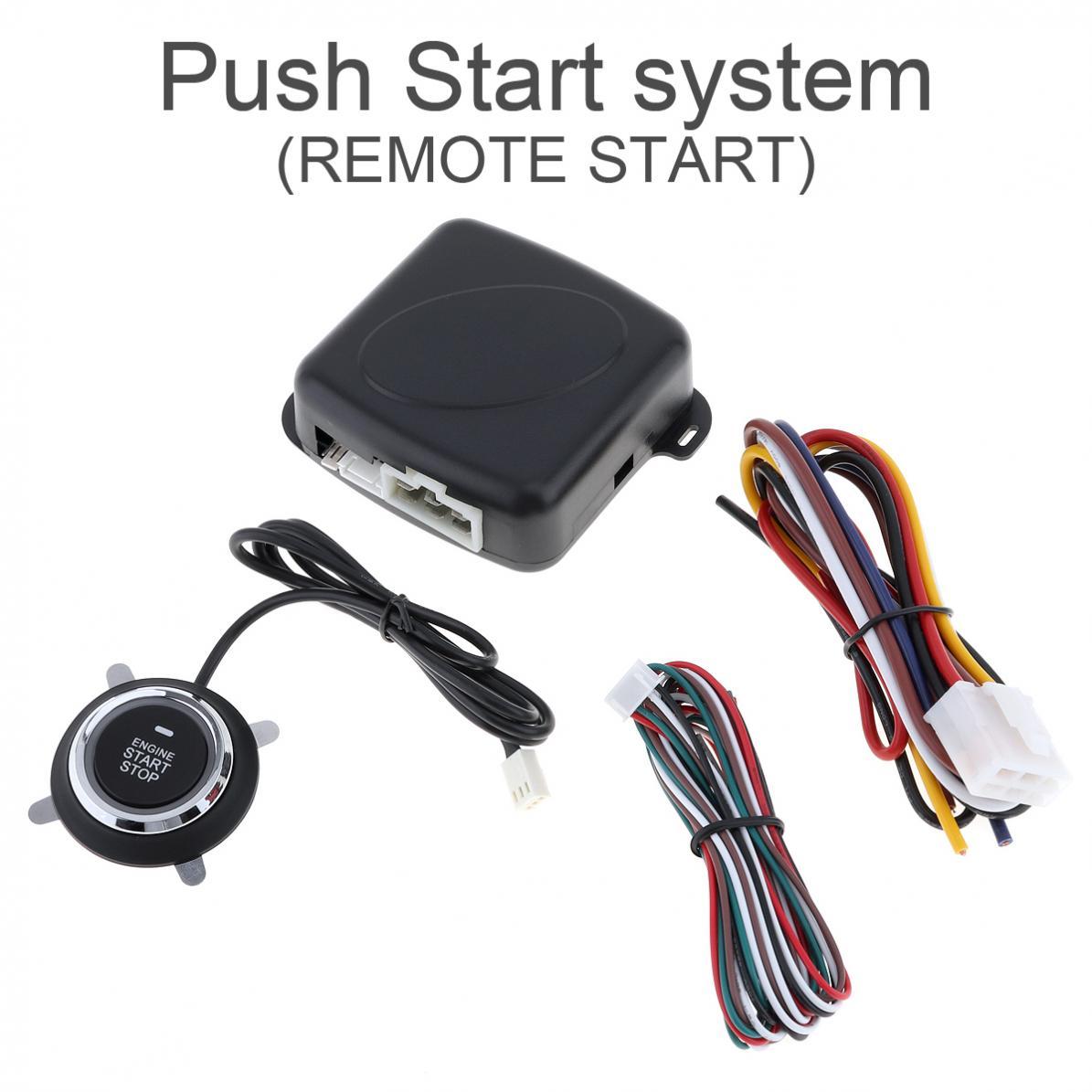 12 V universel Auto voiture Push Start système Support télécommande 10 minutes compte à rebours arrêt voiture et un arrêt de démarrage clé