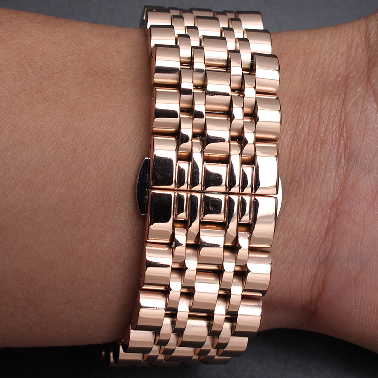 12mm 14mm 16mm 18m 20mm 22mm 24mm High Quality Watchband Accessories Rosegold Watches New Straps Bracelet Stainless Steel Metal