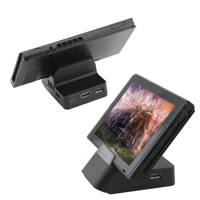 1pcs Adjustable Charging Dock Stand with HDMI USB Port for Nintendo Switch Game Console Switch HDMI charging dock