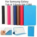 For Samsung Galaxy Tab A 7.0'',Folio Slim Fit Leather Case Cover Samsung Galaxy Tab A 7-Inch SM-T280 (2016 Release) Tablet