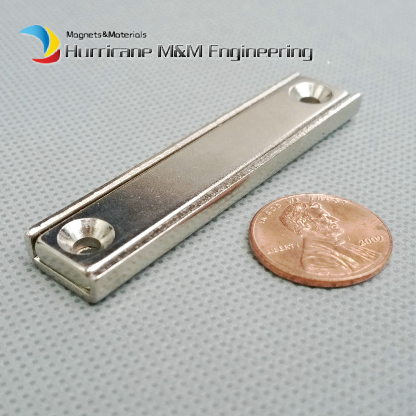 24pcs Toolholder 60x13.5x5mm Rectangle Block Pot Magnet with Countersunk M3 Screw Hole Clamp Neodymium Strong Holding Magnet шурупы 100 3 3 60 m3 double pass 60 mm