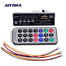 AIYIMA بلوتوث MP3 فك مجلس وحدة صوت WMA WAV USB SD فك FM Aux راديو ل اكسسوارات السيارات لتقوم بها بنفسك