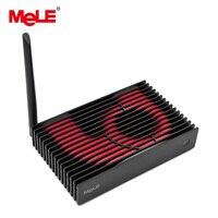Безвентиляторный мини компьютер Mini PC 4 ГБ 32 ГБ MeLE PCG35 GLK Intel Celeron J4105 4 ядра Windows 10 HDMI 4 К VGA LAN WiFi BT HDD SSD