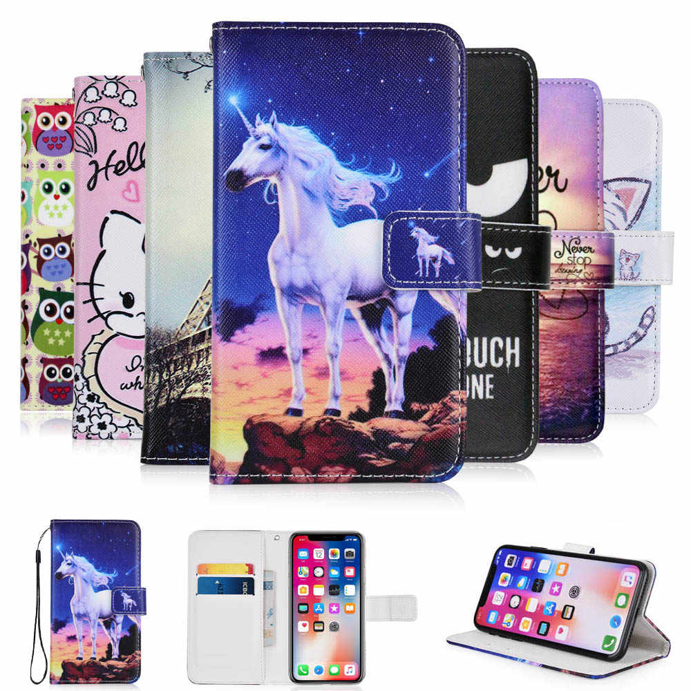 For Wileyfox Spark X case cartoon Wallet PU Leather CASE Fashion Lovely Cool Cover Cellphone Bag Shield