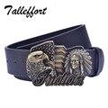 Tallefffort High Quality Fantastic Eagle and India Buckle PU Leather belt designer brand belt for Man