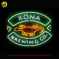 Kona Brewing Neon Sign Handcrafted Neon Bulbs Night Light Glass Tube Iconic Sign Lamp Neon Bulb