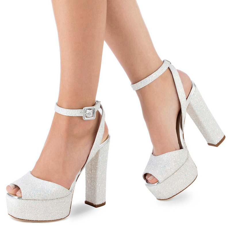 2018 Fashion Sweet Summer Shoes Elegant Bead Simple Buckle Party Wedding High Heels Shoes New Big Size Sandals Shoes TL A0029 in High Heels from Shoes