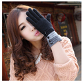 2016 autumn and winter women's button thermal fashion all-match wool gloves winter gloves