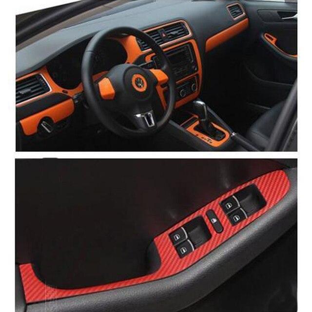 Interior del coche entero de fibra de carbono pegatina 11 sets para vw jetta mk6 accesorios left - Accesorios coche interior ...