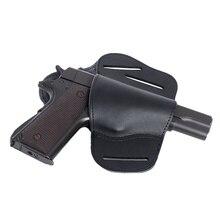Кожаный скрытый чехол-Кобура Для Пистолетов Glock 17 19 22 23 43 Sig Sauer P226 P229 Ruger Beretta 92 M92 s& w Pistols, чехол с зажимом, новинка