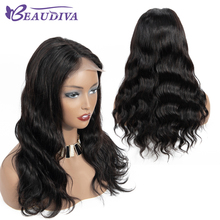 Body Wave 4*4 Lace Closure Human Hair Wigs For Black Women with Baby Brazilian