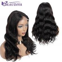 цена на Body Wave 4*4 Lace Closure Human Hair Wigs For Black Women with Baby Hair Brazilian Body Wave Lace Closure Human Hair Wigs