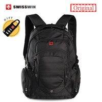 Swisswin Wenger Black Backpack 15 6 Laptop Backpack Waterproof Bagpack Big Capacity Daily Backpack