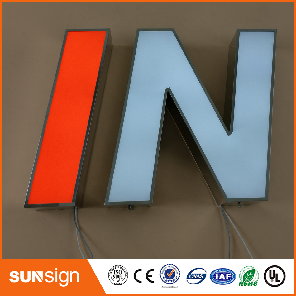 Stainless Steel Channel Letter Sign Making Outdoor Illuminated Signs