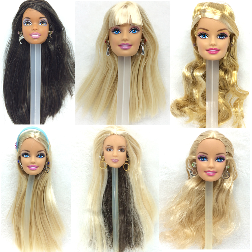 NK One Pcs Fashion Doll Head Hair DIY Accessories For Barbie Kurhn Doll Best Girl' Gift Child DIY Toys электронные кухонные весы redmond rs 736 spice