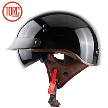Nueva Llegada 2017 estilo moto TORC Harley casco Profesional casco de La Motocicleta forro lavable y PUNTO de seguridad Estándar
