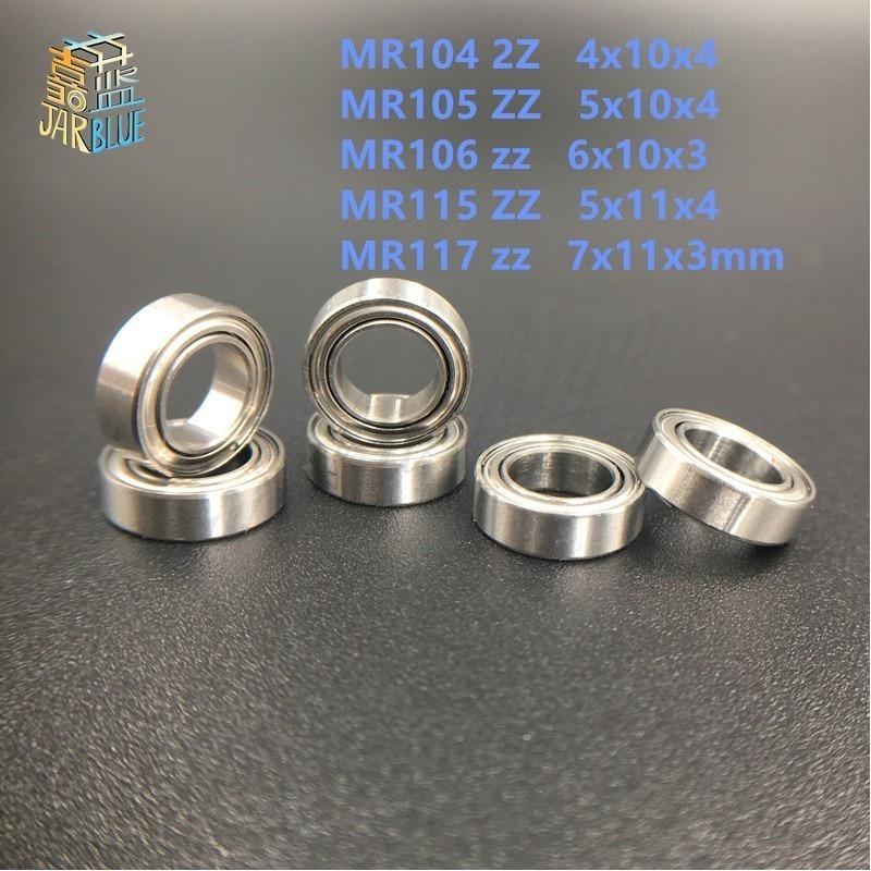 10pcs FREESHIPPING MR104 2Z MR105 ZZ MR106 zz MR115 ZZ MR117 zz MINI bearing 4x10x4 5x10x4 6x10x3 5x11x4 7x11x3mm пуговицы zz 100 diy