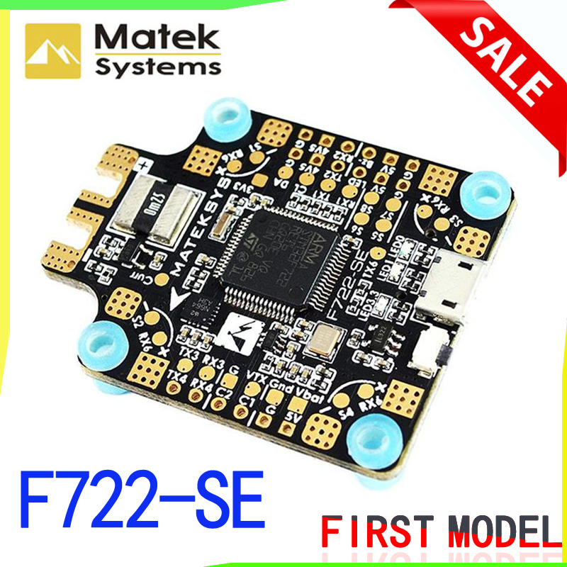 Matek System F722-SE F7 Dual Gryo Flight Controller AIO PDB OSD 5V/2A BEC Current Sensor for FPV Multicopter Racing Drone AccsMatek System F722-SE F7 Dual Gryo Flight Controller AIO PDB OSD 5V/2A BEC Current Sensor for FPV Multicopter Racing Drone Accs