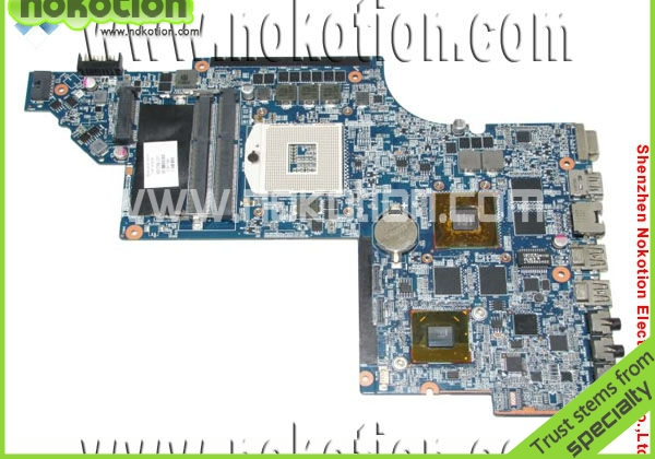 NOKOTION 650799-001 laptop  motherboard for HP Pavillion DV6 DV6-6000  Intel HM65  with graphics DDR3 HD6770 574680 001 1gb system board fit hp pavilion dv7 3089nr dv7 3000 series notebook pc motherboard 100% working