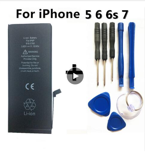 Image 2 - New large capacity 4800MA lithium battery for Apple iPhone 6S 6 7 5S 5 battery replacement built in phone battery + free tools-in Mobile Phone Batteries from Cellphones & Telecommunications