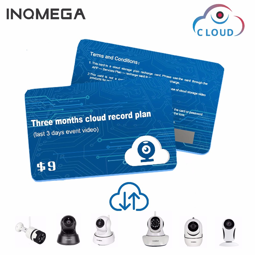INQMEGA  Amazon Cloud Services Plan Card For Amazon Cloud Storage Wifi Cam Home Security Surveillance IP Camera For APP-YCC365