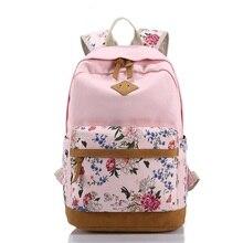 Blumendruck Frauen Schultasche Rucksack Für Teenager Mädchen Rucksäcke Leinwand Kinder Schultasche Frauen Buch Taschen