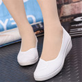 White Black Working Nurse Shoes Spring Autumn Women Work Shoes Women's Loafers Plus Size 36-43 Wedge Canvas Loafers Flats