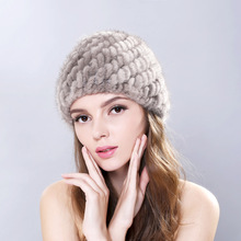Women's fur hat natural rex rabbit fur hats for women outdoor warm knitted hats beanies lady winter charm hat heagear thick все цены